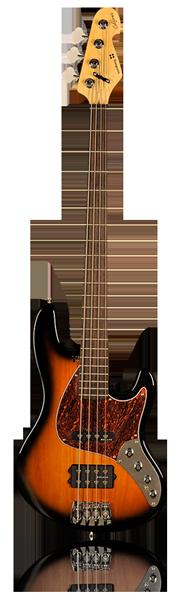 image of sandberg bass California T bass in brown