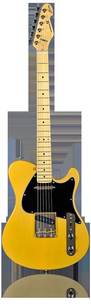 image of sandberg guitar Electra DC guitar in yellow-black