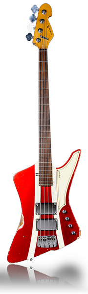 image of sandberg bass Forty Eight bass in red